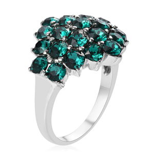 Ring in Stainless Steel (Size 7.0) Made with SWAROVSKI Multi Color Crystal