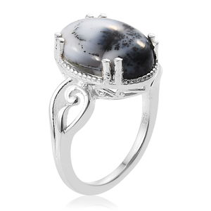 Dendritic Agate Ring in Sterling Silver (Size 6.0) 3.95 ctw