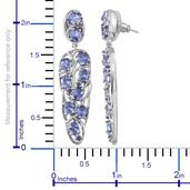 Tanzanite (Ovl), Catalina Iolite Earrings in Platinum Overlay Sterling Silver Nickel Free TGW 6.52 Cts.