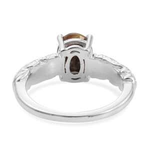 KARIS - Chocolate Sapphire Ring in Platinum Bond Brass (Size 6.0) 1.25 ctw