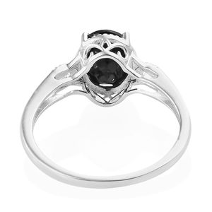 Thai Black Spinel Sterling Silver Ring (Size 7.0) 3.10 ctw