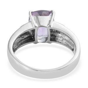 Rose De France Amethyst Ring in Stainless Steel (Size 9.0) 4.00 ctw