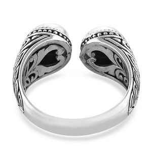 Bali Legacy Silver Shungite Ring in Sterling Silver (Size 7.0) 1.55 ctw