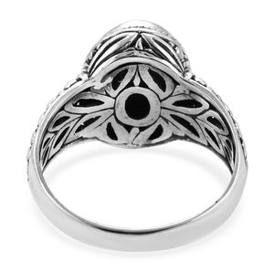 Bali Legacy Arizona Sleeping Beauty Turquoise Ring in Sterling Silver (Size 7.0) 3.27 ctw