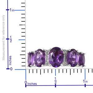 Lusaka Amethyst, White Zircon Ring in Sterling Silver (Size 10.0) 3.84 ctw