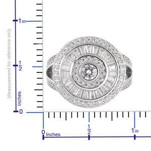 LUSTRO STELLA CZ Split Ring in Sterling Silver (Size 5.0) (Avg. 28.95 g) 2.23 ctw