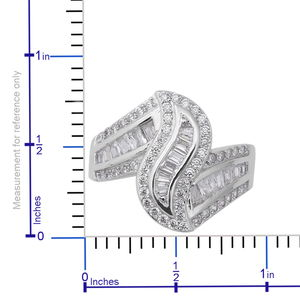 LUSTRO STELLA CZ Ring in Sterling Silver (Size 5.0) 2.34 ctw