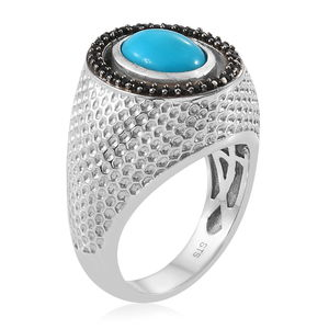 Red Coral, Multi Gemstone Ring in Platinum Over Sterling Silver (Size 6.0) (Avg. 7.78 g) 3.57 ctw