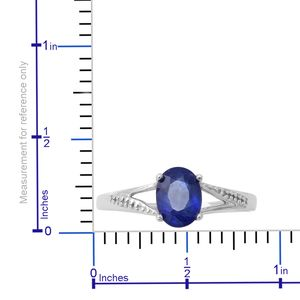 Masoala Sapphire Split Ring in Platinum Over Sterling Silver (Size 11.0) 1.90 ctw