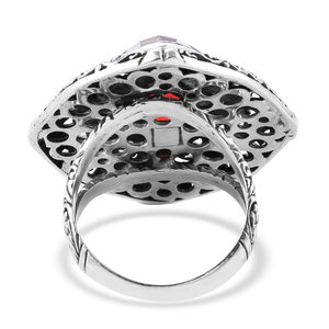BALI LEGACY Volcanic Quartz Cocktail Ring in Sterling Silver (Size 7.0) (Avg 9.86 g) 7.13 ctw