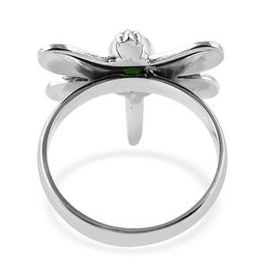 BALI LEGACY Russian Diopside Dragonfly Ring in Sterling Silver (Size 10.0) 0.82 ctw