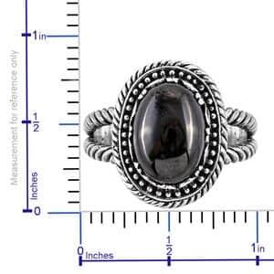 Bali Legacy Shungite Split Ring in Sterling Silver (Size 7.0) 3.75 ctw