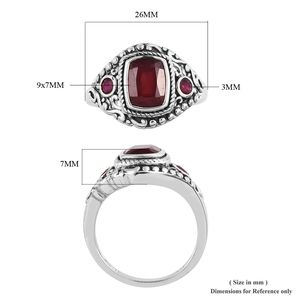 Artisan Crafted Niassa Ruby Ring in Sterling Silver (Size 8.0) 4.09 ctw