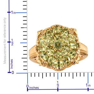 Hebei Peridot Ring in Vermeil YG Over Sterling Silver (Size 8.0) (Avg. 7.02 g) 3.80 ctw
