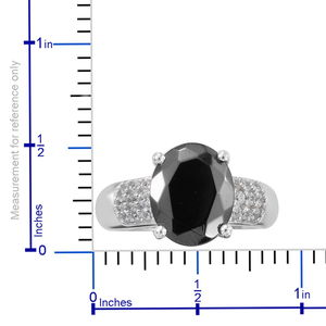 Shungite, Zircon Ring in Platinum Over Sterling Silver (Size 8.0) 2.55 ctw