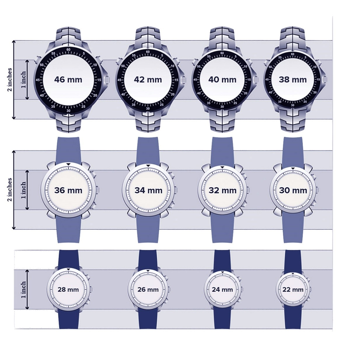 Size Chart for Watch