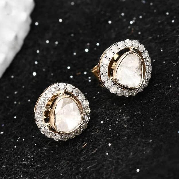 Polki diamonds Earring